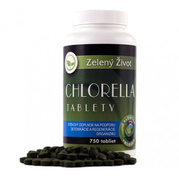 Chlorella vulgaris - 750 tabliet