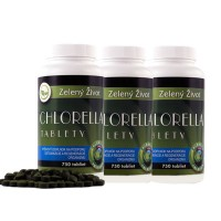 Chlorella vulgaris - 3 x 750 tabliet