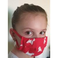 Ochranné bavlnené rúško detské 2-vrstvové