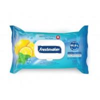 Vlhčené antibakteriálne obrúsky citrón - Freshmaker 120 ks
