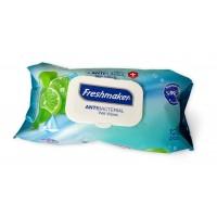 Vlhčené antibakteriálne obrúsky limetka - Freshmaker 120 ks