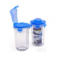 Šejker - Shaker na nápoje sklený PC 318 450 ml - modrý