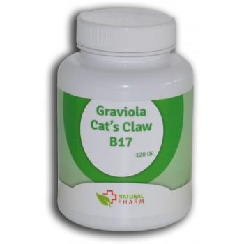 Graviola + Cat´s Claw /Mačací pazúr/+ B17 kapsuly 200 ks