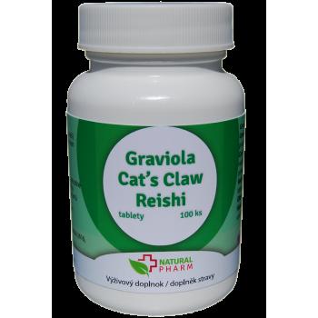 Graviola + Cat´s Claw /Mačací pazúr/ + Reishi tablety 100 ks