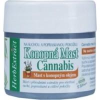 Konopná masť Cannabis pre ošetrenie suchej a popraskanej pokožky