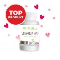Vitamín A – D pre zdravú pokožku, nechty a vlasy 60 ks