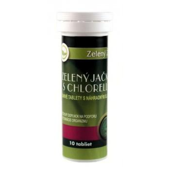 Zelený jačmeň s chlorellou - šumivé tablety 10 tabliet